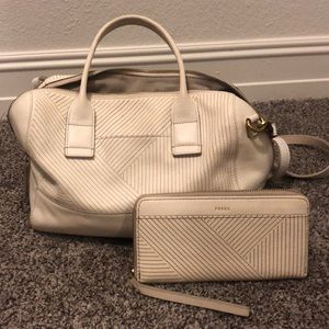 Fossil Handbag with Matching Wallet